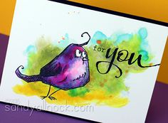 Copic Watercolor: learning from Ranger (Bird Crazy)   Sandy Allnock