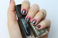 Pink & Gunmetal Manicure | #LivingAfterMidnite