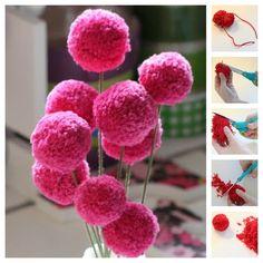 Fleurs en laine