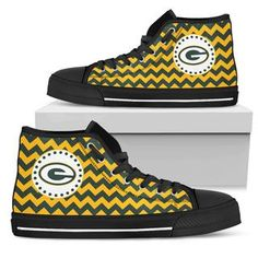 Chevron Broncos Green Bay Packers High Top Shoes
