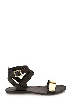 Metal-Trim Sandals | FOREVER21 - 2000123571