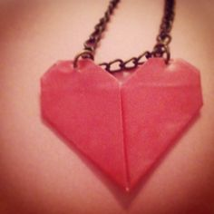 Home made origami necklace Origami Necklace, Homemade, Silver, Jewelry, Jewlery, Home Made, Jewerly, Schmuck, Jewels