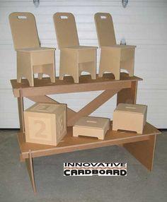 2 Tier Cardboard Shelf