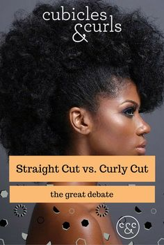 This debate centers around the best way to cut natural, curly hair. Do you straighten it first and then rewet it to get the desired style? Do you cut it in its curly, product free state and then wash and style? Hair dressers all swear by their method of curling hair but does it really matter? Of course it does! Read More: http://www.cubiclesandcurls.com/blog/2015/01/24/curl-talk-straight-cut-vs-curly-cut…