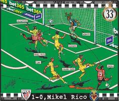 Athletic Club, 1 - Villarreal CF, 0 - Mikel Rico