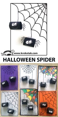 A simple and fun craft for Halloween. A simple and fun craft for Halloween. Theme Halloween, Halloween Tags, Halloween Crafts For Kids, Halloween Activities, Diy Halloween Decorations, Fall Crafts, Fall Halloween, Happy Halloween, Activities For Kids