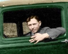 colorized photo of Clyde Barrow