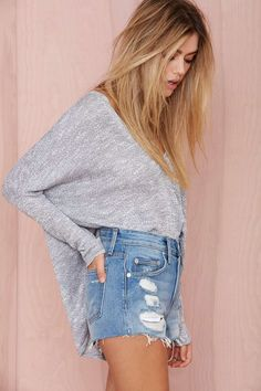 Lovers and Friends Jack Distressed Cutoffs | Shop Denim at Nasty Gal