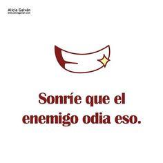 Recuerda que el mejor regalo que le puedes hacer a tu enemigo es una sonrisa :) No te pierdas ninguna de nuestras publicaciones y descubre que #tarotista está disponible través de http://www.aliciagalvan.com/ #felizjueves #juernes #felizdía