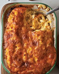 Southern-Style Macaroni & Cheese _ The recipe for this wonderful regional take is an adaptation of one in The Gift of Southern Cooking (Knopf, by Edna Lewis, a Southern culinary legend, & Scott Peacock, the former Chef of Atlanta's Watershed Restaurant Think Food, I Love Food, Food For Thought, Pasta Dishes, Food Dishes, Side Dishes, Cheese Dishes, Main Dishes, Gastronomia