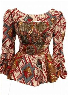 Gorgeous and Lovely Ankara Peplum Top Perfect For A Fashionable Week - Ankara collections brings the latest high street fashion online Short African Dresses, African Blouses, African Tops, Latest African Fashion Dresses, African Print Fashion, Africa Fashion, Ankara Peplum Tops, Ankara Skirt And Blouse, African Attire