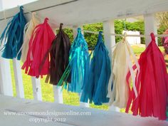 Tassel Party Garland from Tissue Paper {Tutorial } | Uncommon