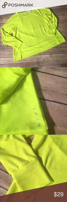 NWT Lane Bryant LIVI Active comfort shirt 22/24 NWT Lane Bryant LIVI Active comfortable shirt  size 22/24. Color is Fluorescent Yellow. So Soft and comfortable. Brand new with tags Lane Bryant Tops Sweatshirts & Hoodies