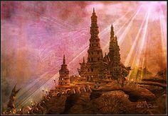 """City of the Ancient Gods"" - amazing second life fantasy region"