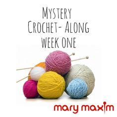 Welcome to Week One of our Mystery Crochet-Along! For the next 15 weeks each Friday we will release 3-4 squares a week that will come together to create a sampler afghan. We suggest Mary Maxim Star…