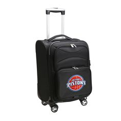 NBA Detroit Pistons 21 in. Black Carry-On Spinner Softside Suitcase