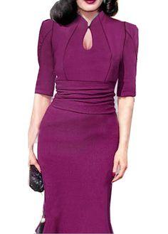 Charming Half Sleeve V Neck Woman Bodycon Dress