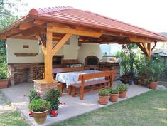 45 Gorgeous Outdoor Patio Design Ideas Enticing You to Stay Longer patio ideas Backyard Kitchen, Summer Kitchen, Outdoor Kitchen Design, Kitchen Rustic, Kitchen Dining, Kitchen Ideas, Design Kitchen, Outdoor Rooms, Outdoor Gardens