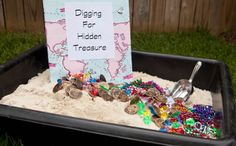 Mermaids and Pirates Party - Digging for Treasure