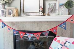 DIY Festive Star Bunting | 11 Patriotic 4th of July Sewing Projects
