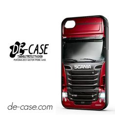 Red Scania Truck For Iphone 4 Iphone 4S Case Phone Case Gift Present YO