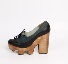 Ripsaw Dian Platform Forest Green by CHIYO
