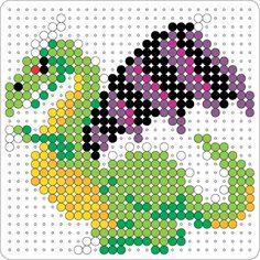 Dragon hama beads pattern