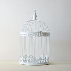 P le m le cage oiseau blanc maison du monde reference - Maison du monde cage oiseau ...