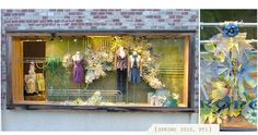 Flowers made from painted plastic bottles via Anthropologie Window Display Photos