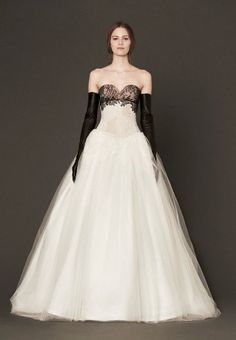 Princess in black and white, dress by Vera Wang - 2014 collection