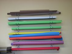 bicycle rack holders for bulletin board paper