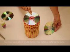 DIY - Recycle an old CD and broken bangles into a beautiful candle holder | Best out of waste - YouTube