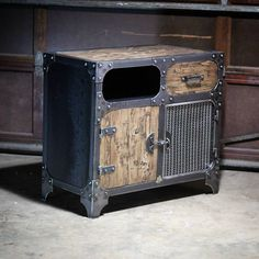 Modern Industrial Furniture — This was a special request for a night stand to...