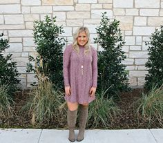 I love this easy sweater dress. It is so flattering for every body style and will be the perfect addition to your fall/winter closet!