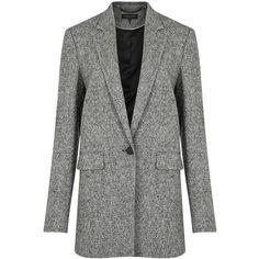 rag & bone Ronin tweed blazer (€530) ❤ liked on Polyvore featuring outerwear, jackets, blazers, tweed blazer, rag bone jacket, wool tweed blazer, tweed jackets and rag bone blazer
