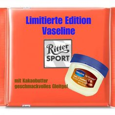 Vaseline Kakaobutter Ritter Sports Funny Witty Sayings Bilder. Vaseline, Diet Recipes, Healthy Recipes, Trick R Treat, Postnatal Workout, Wellness Programs, Health Promotion, Smoothie Diet, Healthy Living Tips