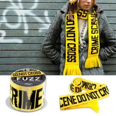 Crime Scene Tape Scarf....neat..01/01/13 Thank you sooo much Heather! :)
