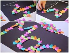 Use heart shaped punched letters to write sight words or names. Great VALENTINE'S Day project