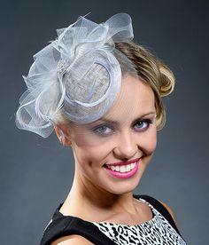 Light grey fascinator hat - New item in my Etsy shop!