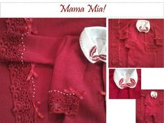 Saída Maternidade - Vermelha Rendada | Mama Mia | 32411A - Elo7