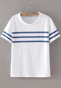 Shop Round Neck Striped Loose T-shirt online. SheIn offers Round Neck Striped Loose T-shirt & more to fit your fashionable needs. - navy blue mens shirt, mens casual button down shirts, mens grey button down shirt *sponsored https://www.pinterest.com/shirts_shirt/ https://www.pinterest.com/explore/shirt/ https://www.pinterest.com/shirts_shirt/sleeveless-shirts/ http://www.indochino.com/collection/shirts