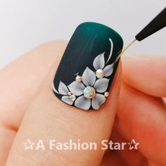 Nail Art ✰A Fashion Star✰ nail nailart ネイル naildesign nailswag nailpolish nailstagram ジェルネイル ногти manicure маникюр гельлак gelnail instanails 595741856940822191 3d Nail Designs, Nail Art Designs Videos, Nail Art Videos, Acrylic Nail Designs, Nail Art Flowers Designs, Star Nail Art, Star Nails, 3d Nail Art, Nail Art Hacks