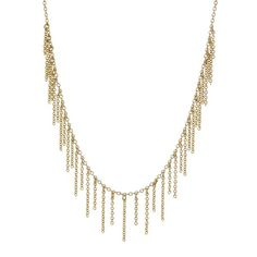 The Chain Fringe Necklace- Gold
