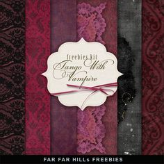 Freebies Kit of Background - Tango with the Vampire:Far Far Hill - Free database of digital illustrations and papers