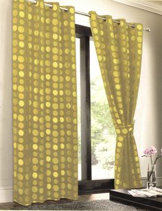 EuropaTex Fully Lined Polka Dot Curtain Panel with Gromets & Reviews | Wayfair