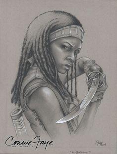 Michonne The Walking Dead Fan Art by ConnieFaye.deviantart.com on @DeviantArt