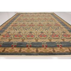 "World Menagerie Fonciere Brown/Blue Area Rug Rug Size: 12'2"" x 16'"