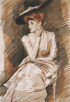 L'Élégante - Paul César Helleu - (French: 1859-1927)