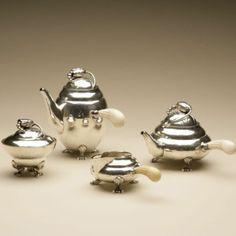 "Gallery 925 - Georg Jensen Super rare ""Baby"" Blossom Coffee and Tea Set no. 2"