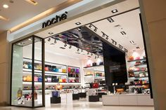 Meet Noche, a brand celebrated for its creative approach to fashion by using clean lines and vibrant colour. The store design is revolved around creating clean crisp form and line to showcase the unique strength of the brand. The colour scheme and textural elements are kept simple but distinct, translating the brand's bold but classy look.